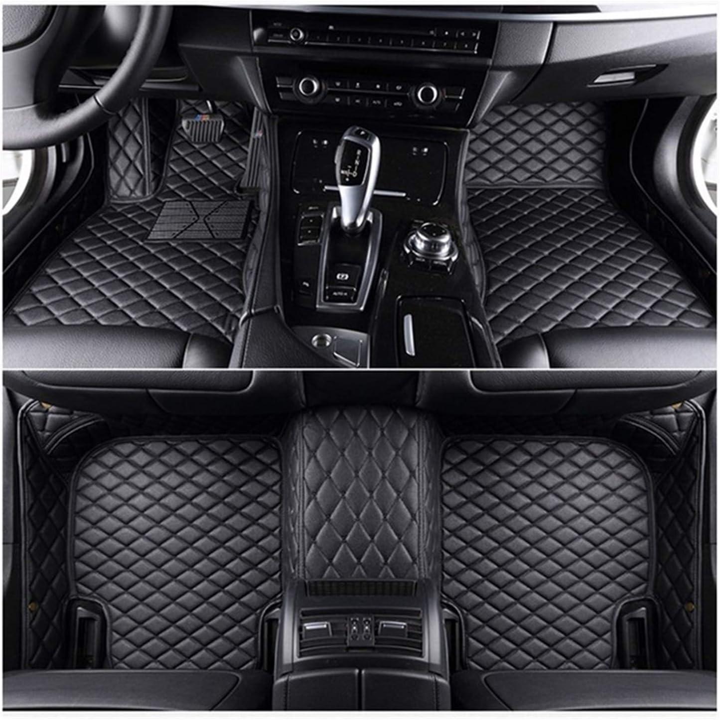 Flash Matte Leder Auto Fußmatten For Bmw X5 E53 E70 2004 2013 2014 2016 2017 2018 Auto Fuß Pads Automobil Teppich Abdeckung Color Name Black And Black Line Auto