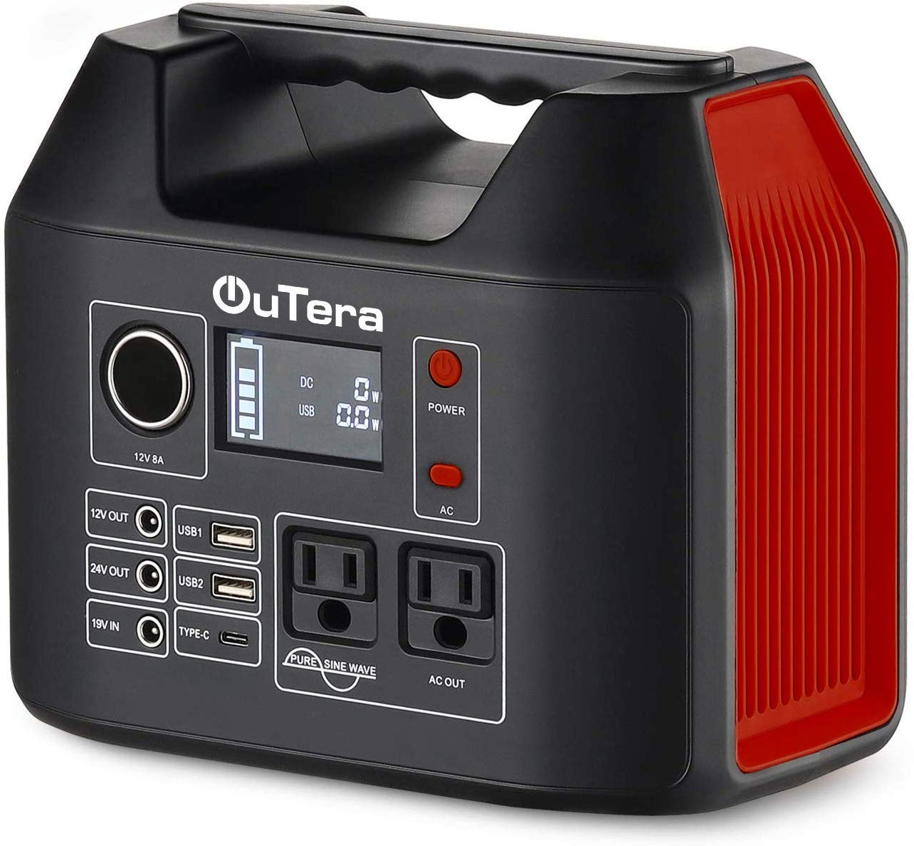 OUTERA Portable Power Station 298Wh, Portable Solar Generators Backup Camping Lithium Battery Pack, 110V 300W Outdoors Solar Generator for Laptops Cellphones Drones and More Electronics Yellow