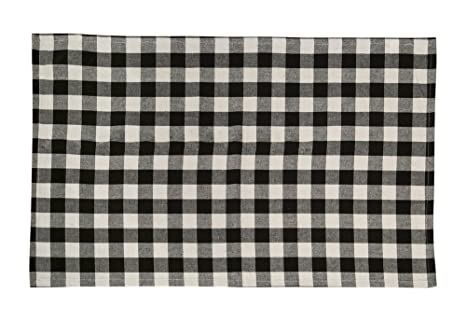 Black & White Checkered Cotton Kitchen Towels 2/pack