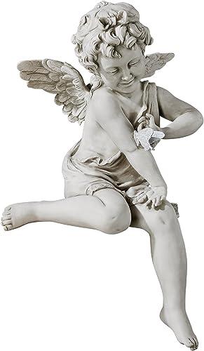 Design Toscano KY47014 Peaceful Presence Angel Sitter Garden Statue