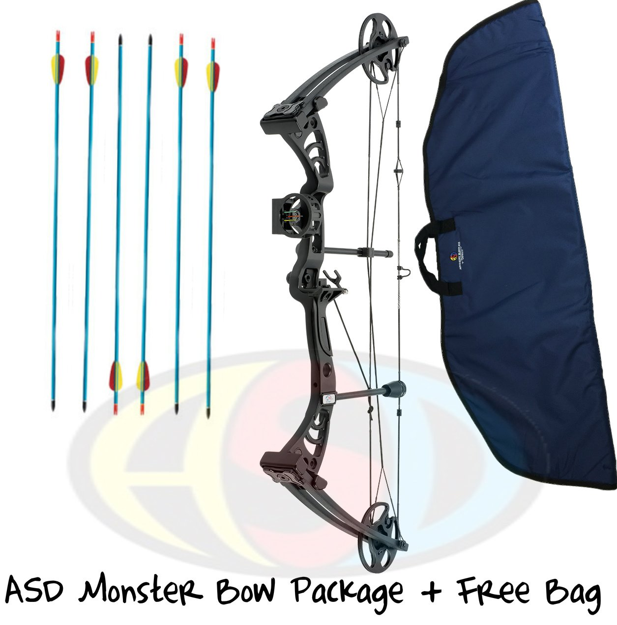 ASD Black Monster Compound Archery Bow 30-55Lbs 19-29