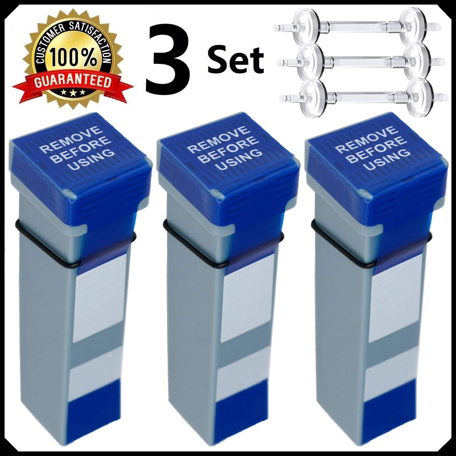 Replacement Cartridge Filter Kit and Check Valve Assembly - Includes 3 Filter Cartridge and 3 Check Valve - Official CPAP Filter Kit Supply - 3 Set