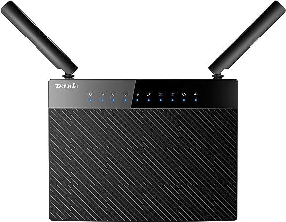 Tenda AC9 AC1200 Enrutador inalámbrico (1200Mbps, 5 puertos Gigabit, 2 antenas externas 3dBi, doble banda 5 GHz 2,4 GHz, VPN, memoria 128MB, ...