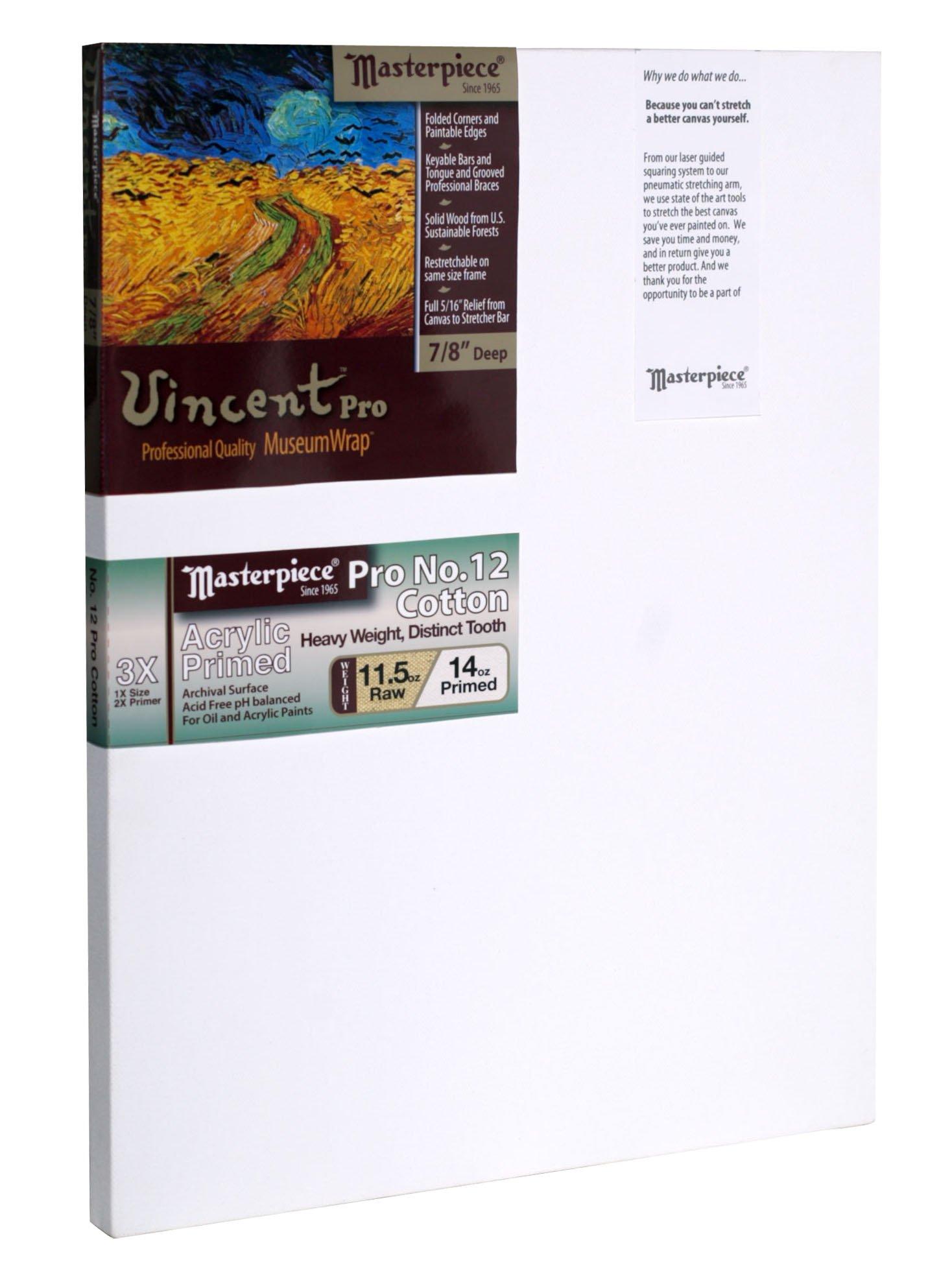 Masterpiece Artist Canvas 41869 Vincent PRO 7/8'' Deep, 36'' x 48'', Cotton 14.0oz - 3X - Sausalito Heavy Weight by Masterpiece Artist Canvas