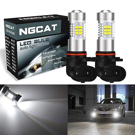 Bombillas LED para coche, 2 unidades de NGCAT H10 DRL, 21 chips SMD,