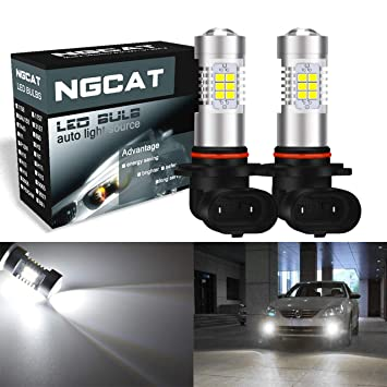 Bombillas LED para coche, 2 unidades de NGCAT H10 DRL, 21 chips SMD,