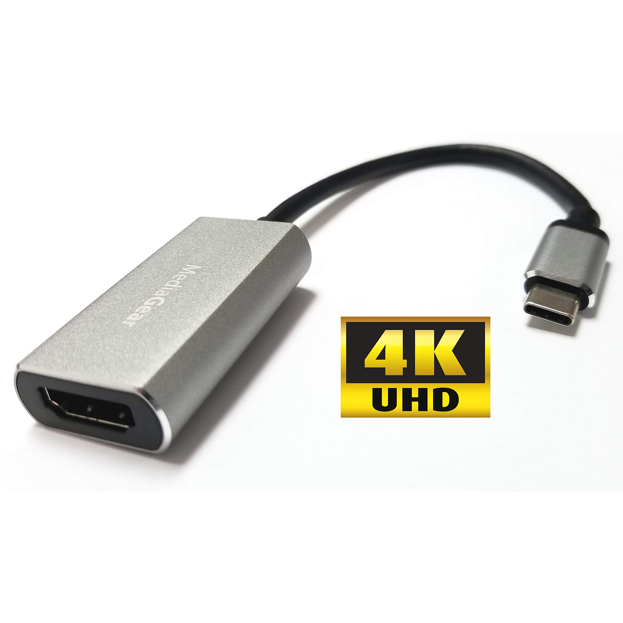 MediaGear USB C to HDMI Adapter - USB 3.1 C to HDMI 4k @ 30hz Cable for MacBook, Pro, SufaceBook 2, iMac, Dell XPS 13/15, PixelBook and HDMI Alt Mode Enabled Devices.