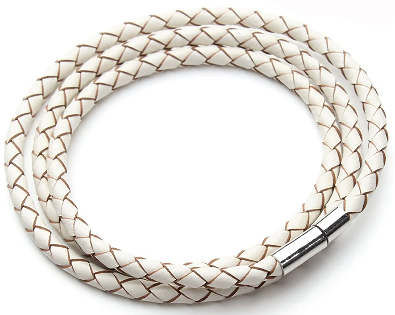 Design in Leather geflochtenes Leder Armband Kollektion weites Land Steckverschluss verschiedene Farben inkl. Geschenktasche 2017-04-004