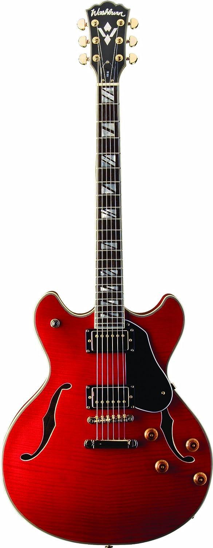 Washburn HB35WRK - Guitarra eléctrica, color rojo: Amazon.es ...