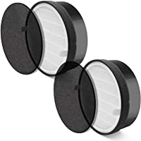 LEVOIT LV-H132-RF 2 Pack Replacement, 3-in-1 Nylon Pre, True HEPA, High-Efficiency Activated Carbon Filter, Black, 2…