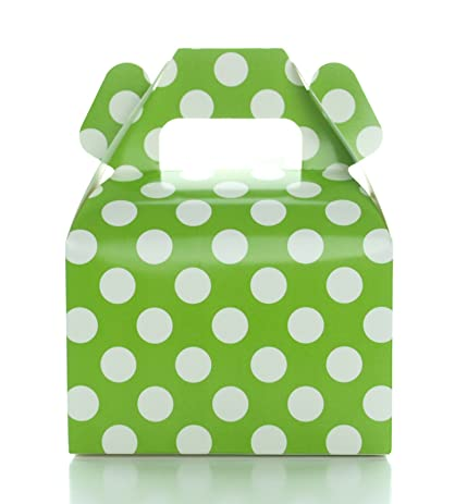 Amazon green candy boxes small polka dot party gift box 12 green candy boxes small polka dot party gift box 12 pack green junglespirit Gallery
