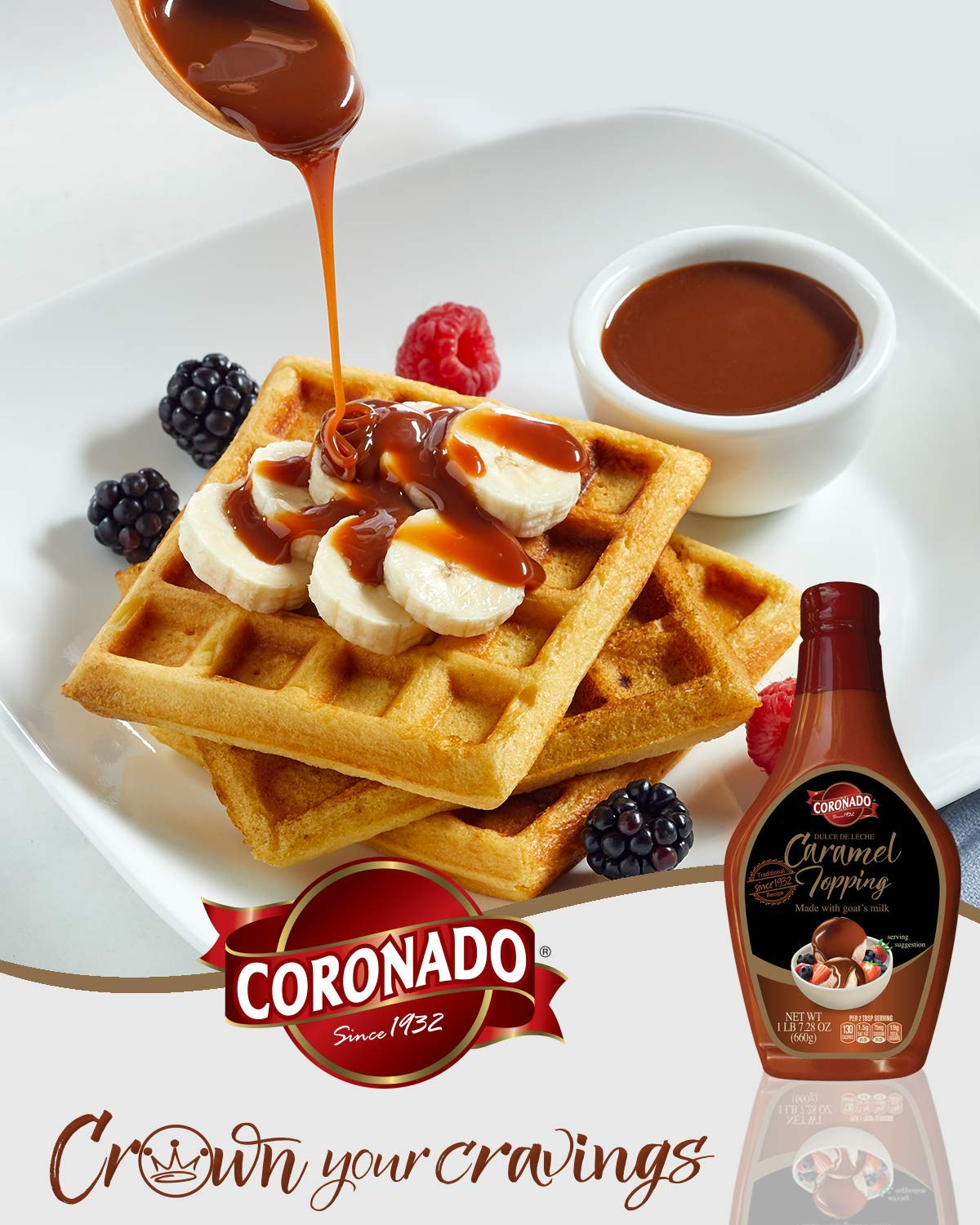 Amazon.com : CORONADO Dulce de Leche Caramel Topping 23.3oz (Cinnamon) : Grocery & Gourmet Food