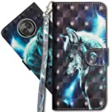 "Moto X4 Wallet Case, Motorola X4 Premium PU Leather Case, COTDINFORCA 3D Creative Painted Effect Design Full-Body Protective Cover for Motorola Moto X4 2017 (5.2"" inch). PU- Wolf"