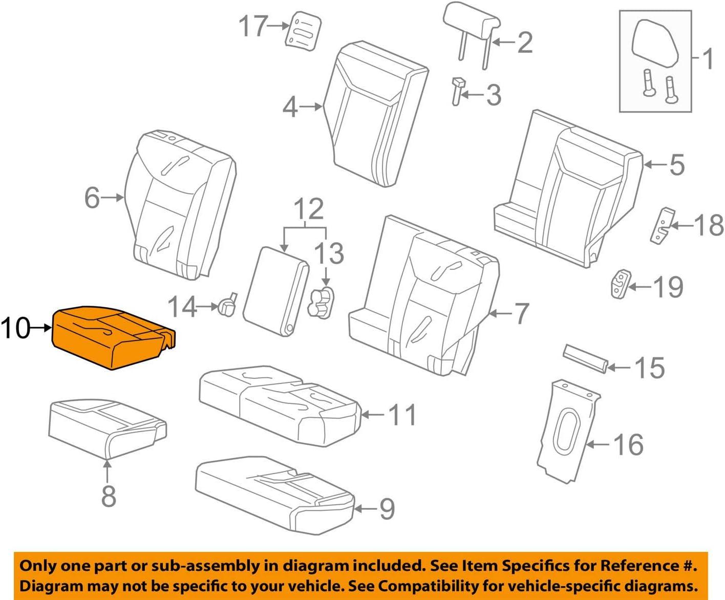 Rear Honda Genuine 82131-T0G-A41ZC Seat Cushion Trim Cover Right