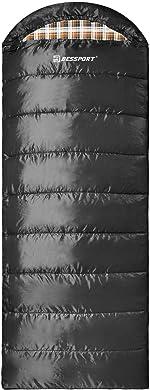 Bessport Sleeping Bag Water Repellent Sleeping Bags Lightweight 3 Season for