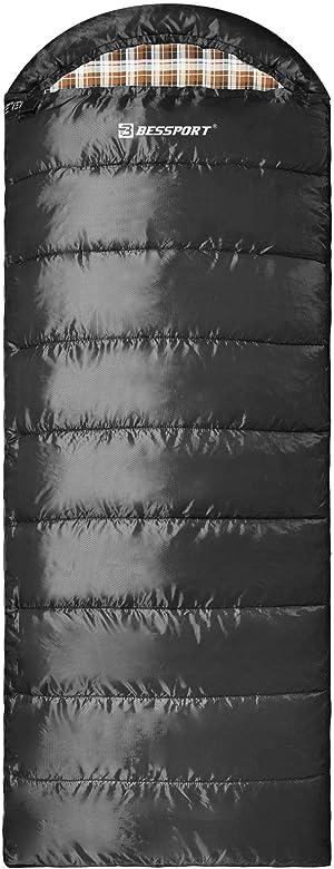 Bessport Sleeping Bag Water Repellent Sleeping Bags Lightweight 3 Season for Adults for Camping, Hiking, Outdoor & Indoor