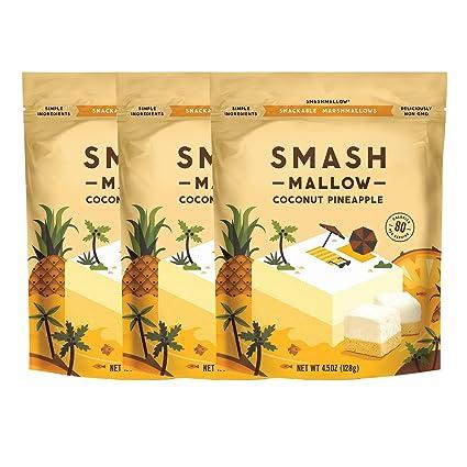 SMASHMALLOW Malvaviscos Snackable | Sin OGM | Azúcar de Caña ...
