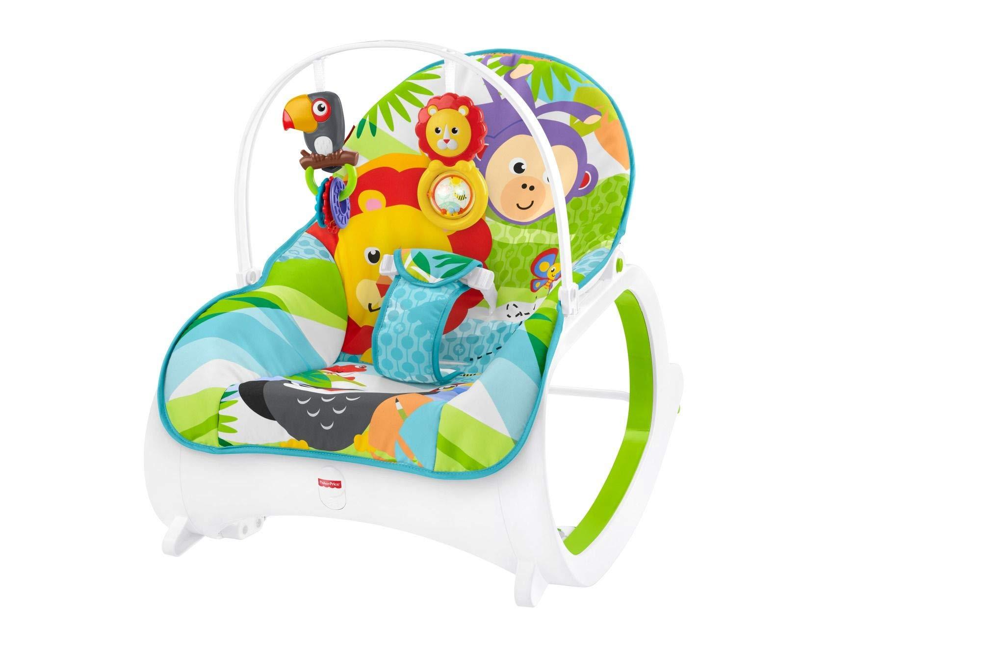 Fisher-Price Hamaca crece conmigo safari, hamaca bebé recién nacido (Mattel FML56)
