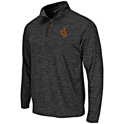 2ec60b37a5e Amazon.com: Mens Wyoming Cowboys Quarter Zip Windbreaker Shirt ...