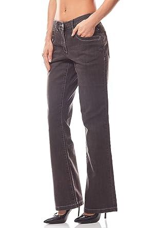 8789c697c380 Cheer Hose Bootcut Jeans Damen Kurzgröße Denim Schwarz, Größenauswahl 38  (19 Kurzgröße)