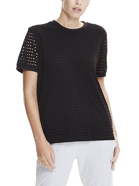Layer Donna Nero Bk11179 T Bench Beauty Mesh Tee black Double Shirt a5qBwqT