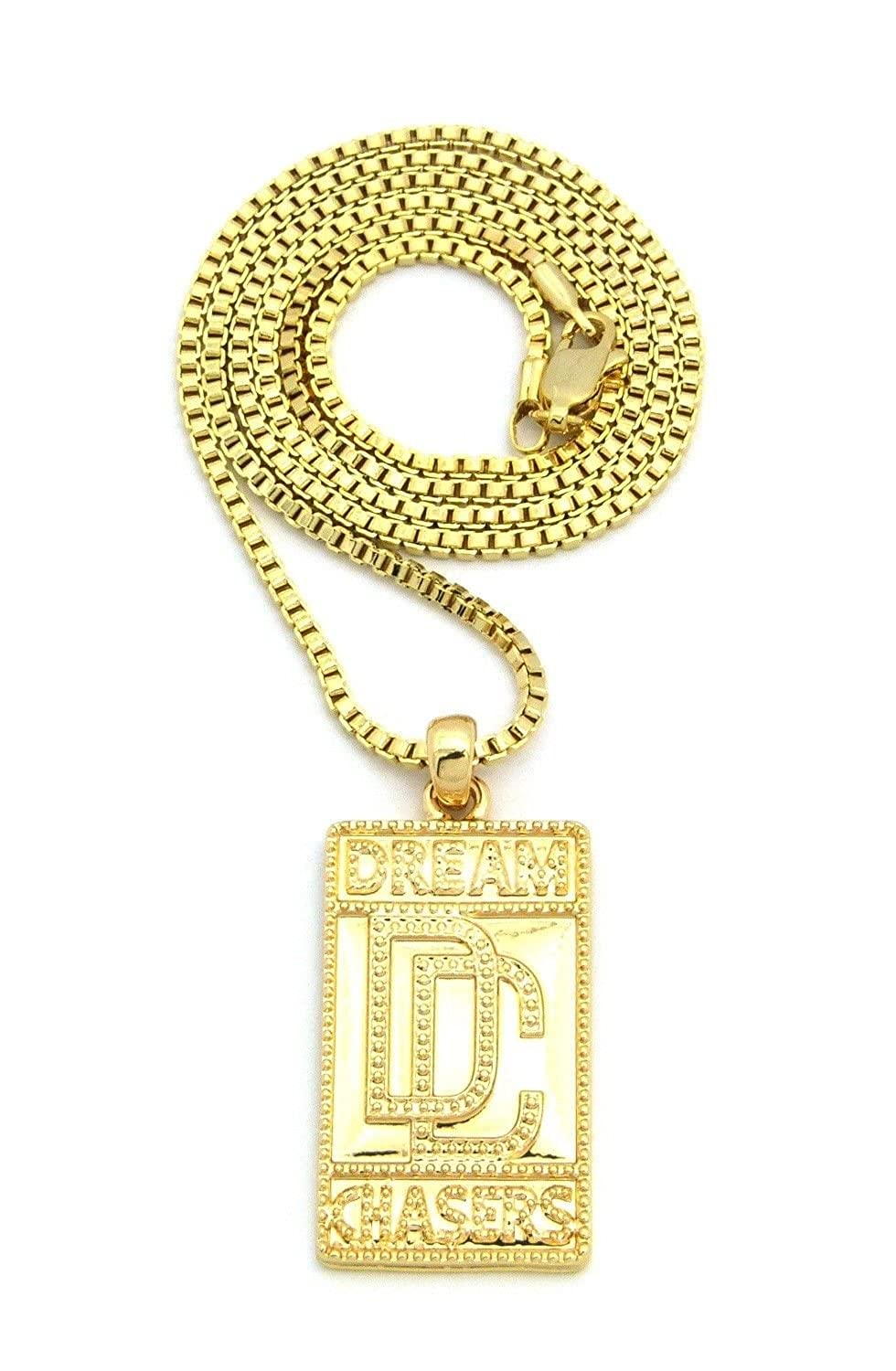 New dream chasers dc pendant 2mm24 box chain hip hop necklace new dream chasers dc pendant 2mm24 box chain hip hop necklace xmp5bxg amazon aloadofball Images