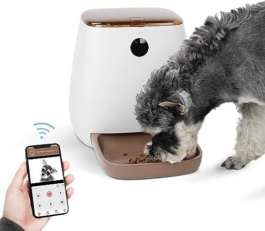 PAWZ Road Alimentador Automático Inteligente para perros gatos con cámara HD de 1080P e intercomunicador en tiempo real,temporizador programable en APP, Comederos de gatos automáticos gran capacidad 3.3L: Amazon.es: Productos para mascotas