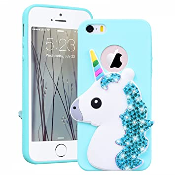 coque iphone 5 licorne silicone