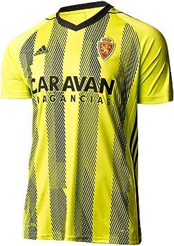 adidas Real Zaragoza Segunda Equipación 2019-2020, Camiseta, Semi Solar Yellow-Black, Talla S: Amazon.es: Deportes y aire libre