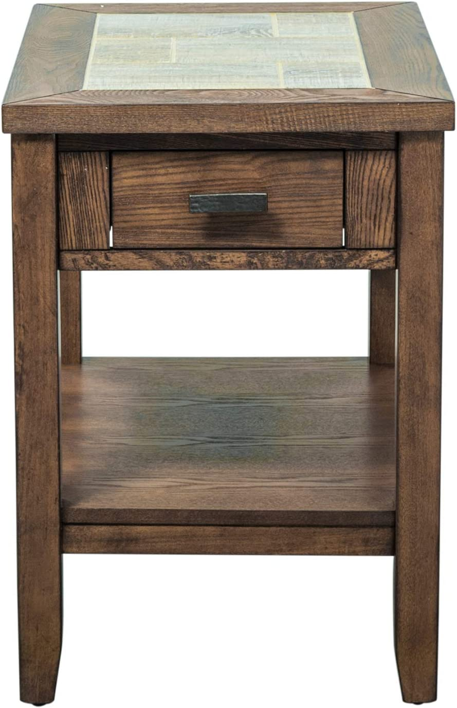 Liberty Furniture Industries Mesa Valley Chair Side Table, W24 x D17 x H24, Medium Brown