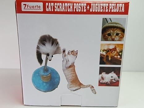 Juguete Pelota Poste Gato Mascota Gatos Raton Simulado Bola Juego Gatos Peluche