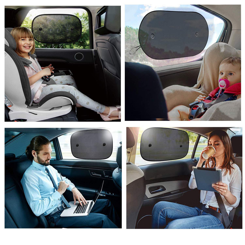Baby Car Sun Shade UV Protection Auto Sun Shade for Side Window Sun Shade Car And SUVs Black Two Pieces Toppaie Car Sun Shade Sunshade Car