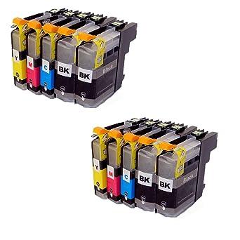 10 Cartuchos de impresora LC123 LC125 LC127 compatible para ...