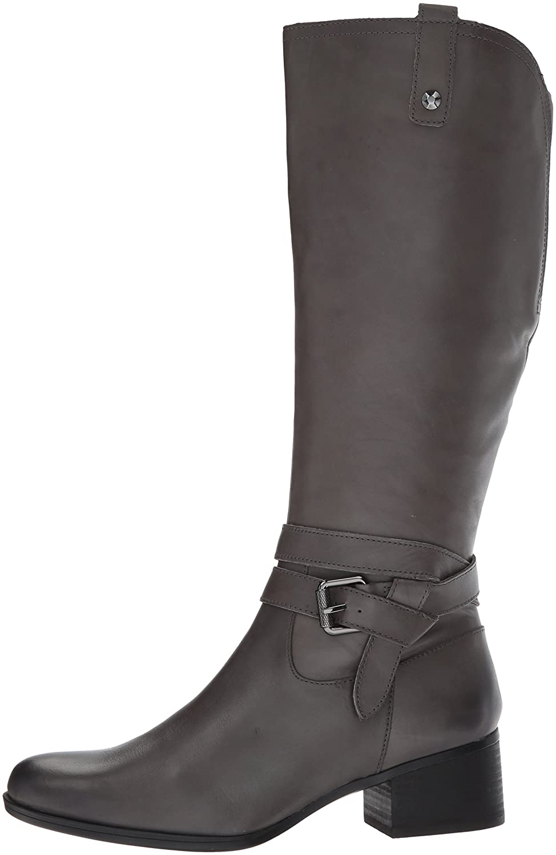Naturalizer Women's Dev Riding Boot B07236QB28 11 W US|Grey