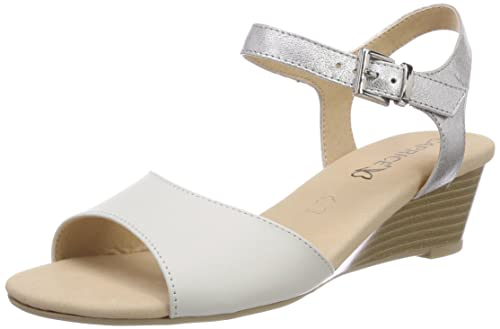Bianco 36 EU Caprice 28213 Sandali con Cinturino alla Caviglia Donna s6u