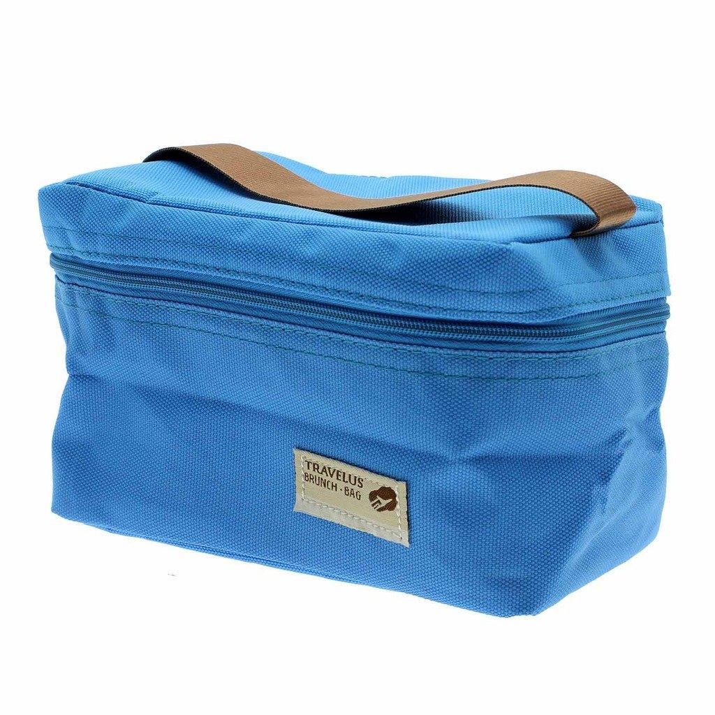 Vanker 1PC blu pratico mini Small Portable isolato picnic bag lunch box contenitore
