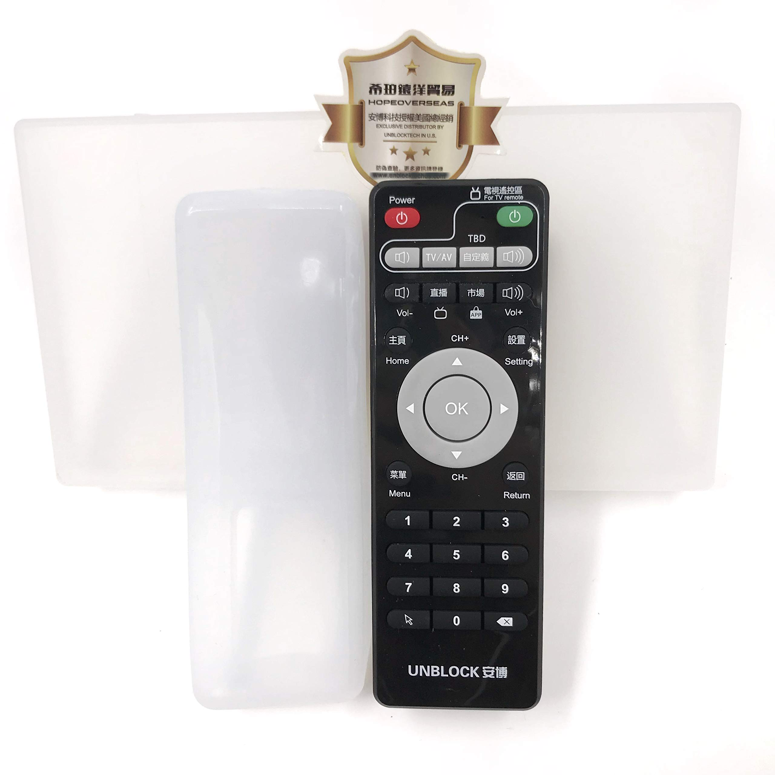 HOPE OVERSEAS Unblock tech Original Remote for ubox, with case in Pack. Support All ubox Model. Supply by Hope overseas Trading, an Authorized Distributor by unblock tech in The United States(Black)