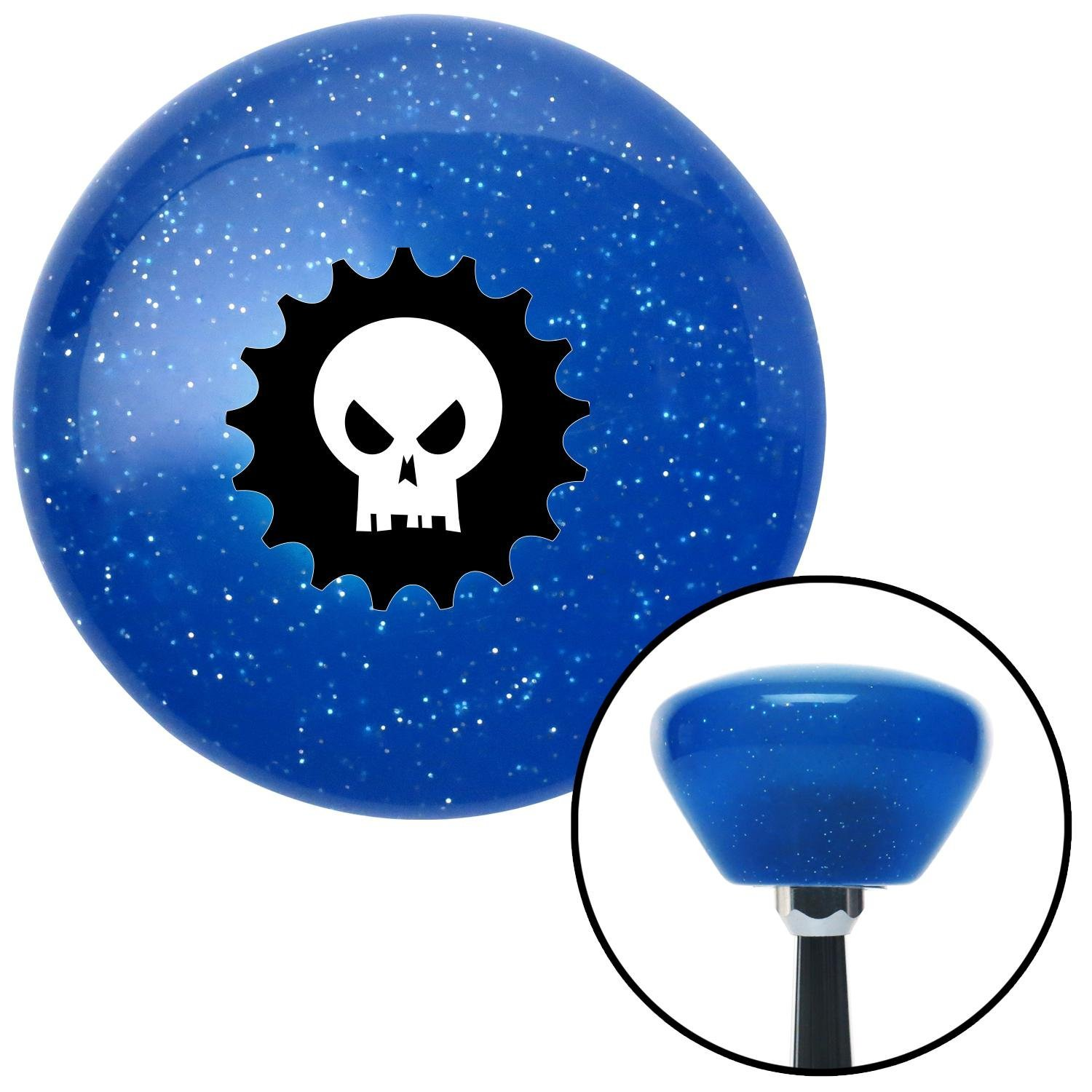 Hellraiser American Shifter 191442 Blue Retro Metal Flake Shift Knob with M16 x 1.5 Insert
