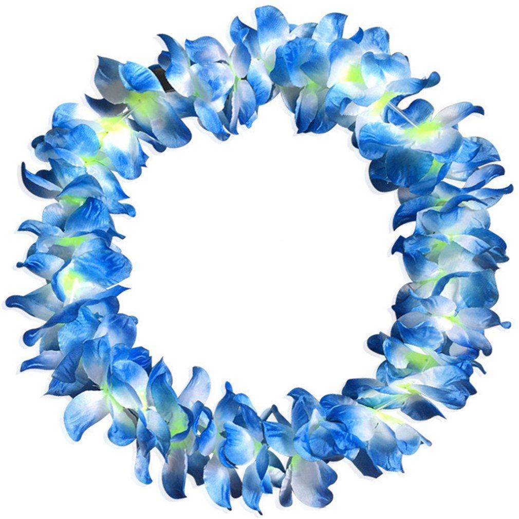 Hawaiiketten Blumenketten Stoffblüten Girlande Hula Karneval Party Deko 36 Stk