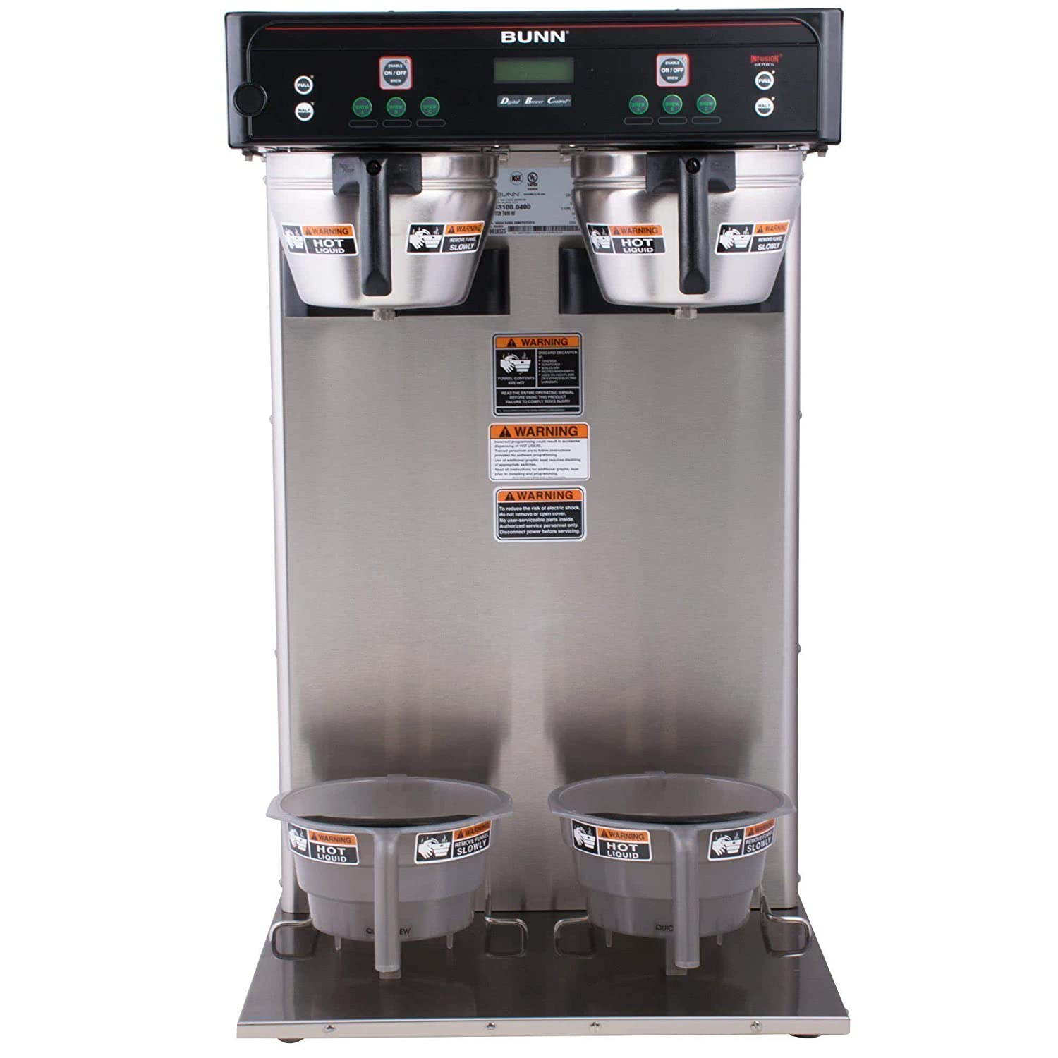 Bunn 43100.0000 ITCB High Volume Twin 1.0-1.5 Gal. Tea & Coffee Brewer