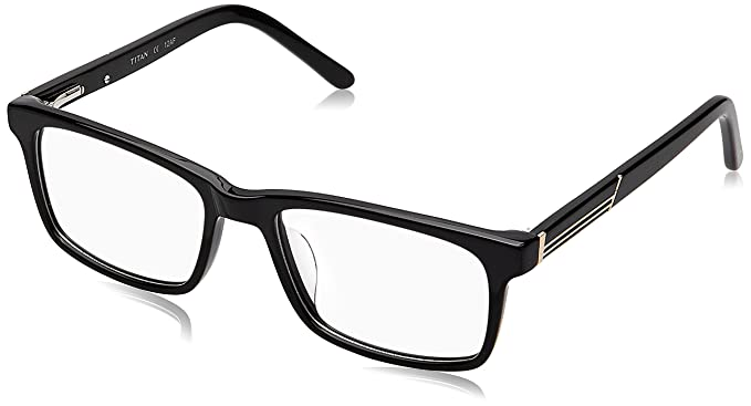 cf64760bd8 Image Unavailable. Image not available for. Colour  Titan Full Rim  Rectangular Men s Spectacle Frame ...