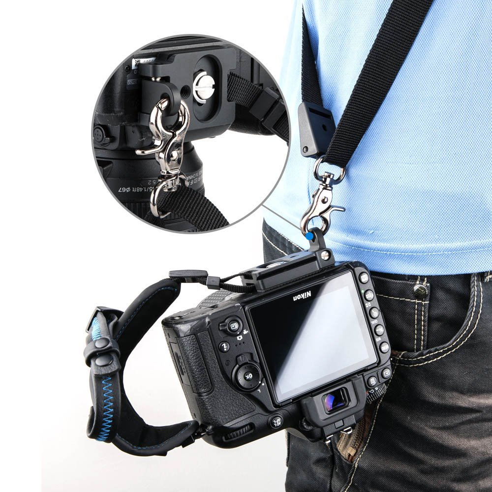 JJC Hand Grip Hand Strap for DSLR Camera with Arca Type Plate