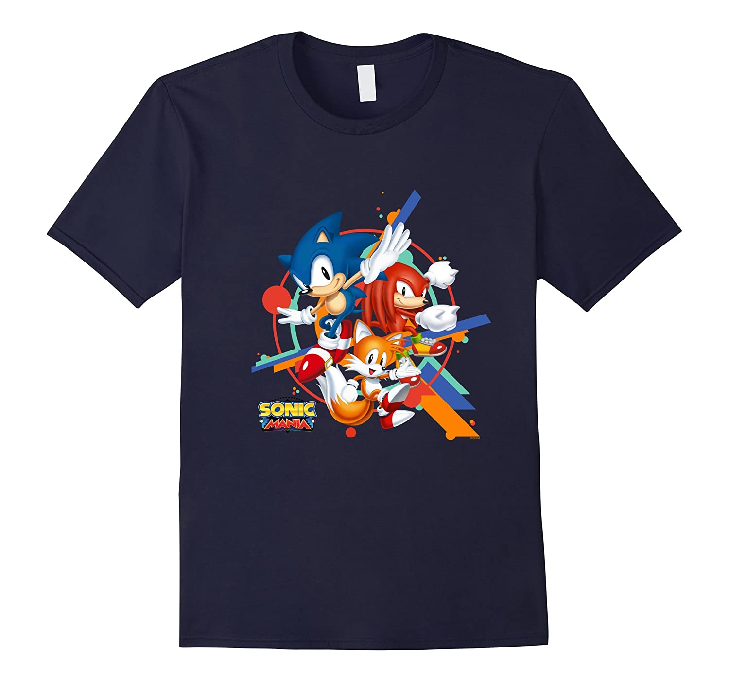 Official Sonic Mania T-Shirt - Sonic, Tails, & Knuckles-Art