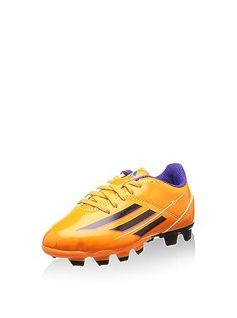 fc07f77ac58 Adidas Fußballschuhe F5 TRX FG J Kinder Unisex solar zest-blast  purple-black (