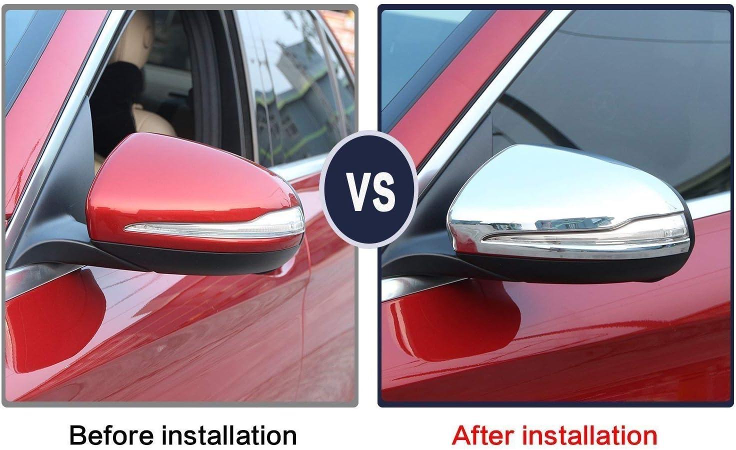 ABS-Chrom-Seitenspiegel-Abdeckung f/ür GLC C-Klasse W205 C180 C200 2015 2017 2 St/ück