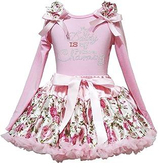 Valentine Dress Daddy Plaid Gift Box White L//s Shirt Red Sequin Skirt Set 1-8y