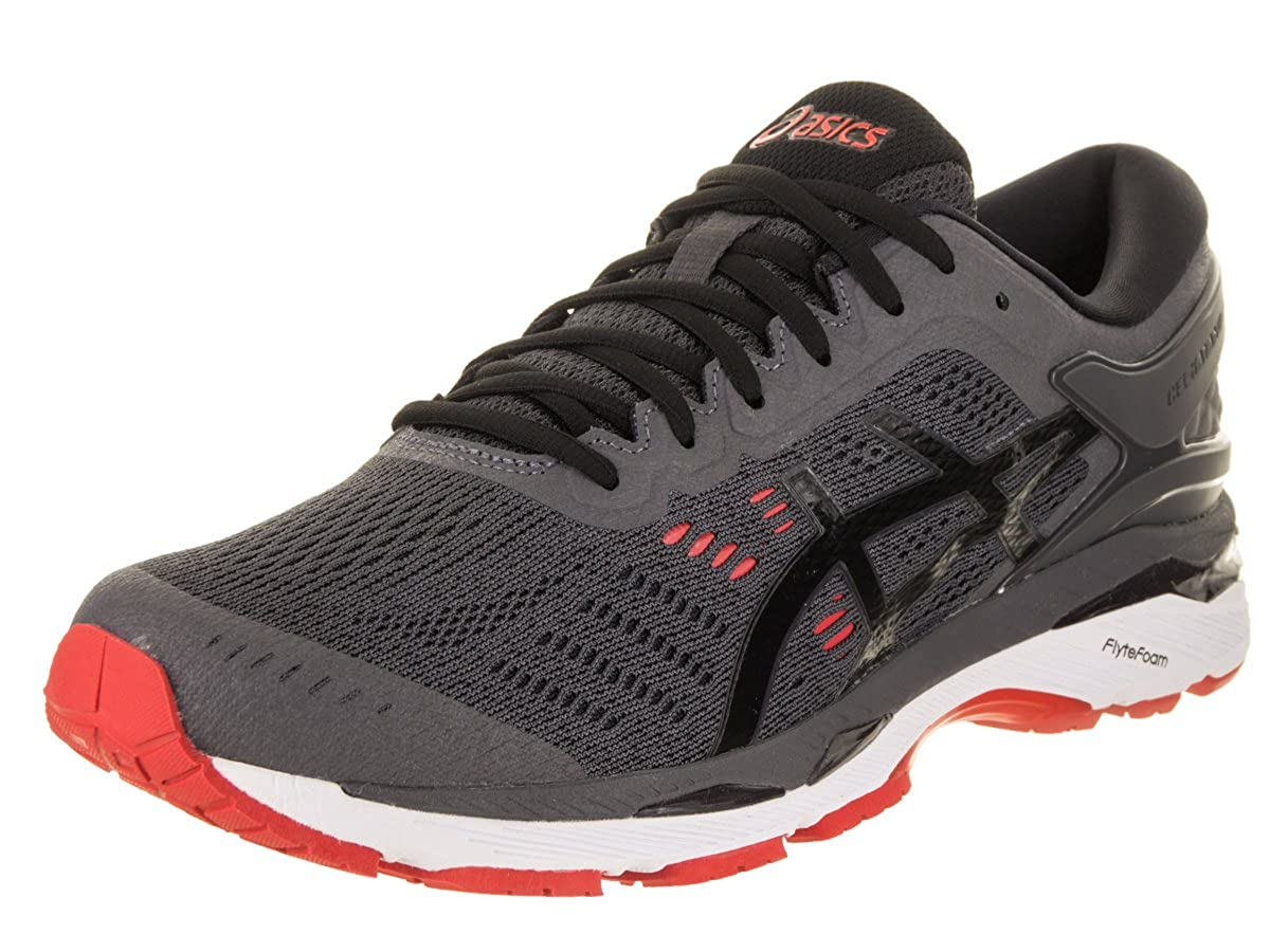 7c79969d70 Amazon.com | ASICS Gel-Kayano 24 Men's Running Shoe, Dark Grey/Black/Fiery  Red, 10 M US | Road Running