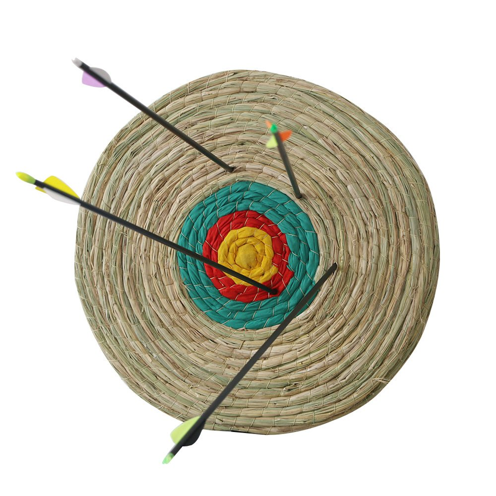 Popshot(TM) 60x60x15cm Archery Shooting Bow Round Straw Target for Recurve Crossbow Hunting Practice