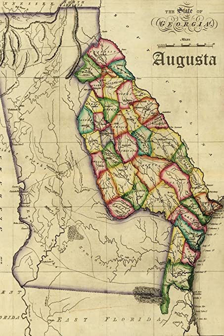 Map Of Augusta Georgia And Surrounding Area.Amazon Com Augusta Georgia Vintage Map 9x12 Fine Art Print