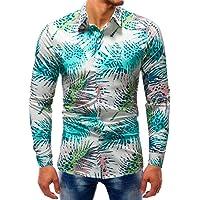 Paolian Chemise à Manches Longues à Manches Longues hawaïenne pour Hommes, Top Tendance pour Hommes